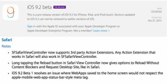 9.2 iOS is available for public beta testirovanie review