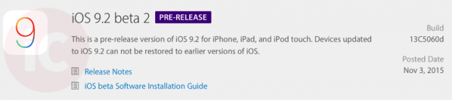 Apple releases second beta of iOS 9.2 for developers