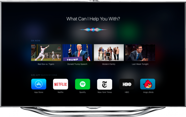 TvOS beta 9.1 has added support for voice control Apple Music