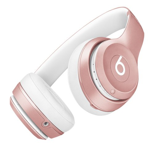 Apple colored Beats headphones in rose gold