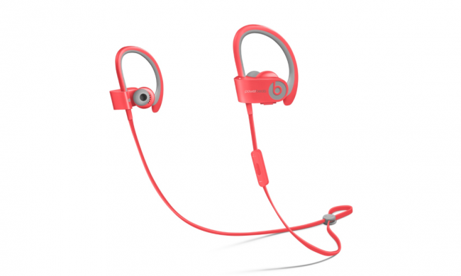 Apple headphones PowerBeats2 painted in the colors of straps, Apple Watch sport