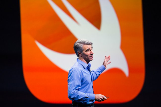 Craig Federighi talked about the plans for the development of Swift