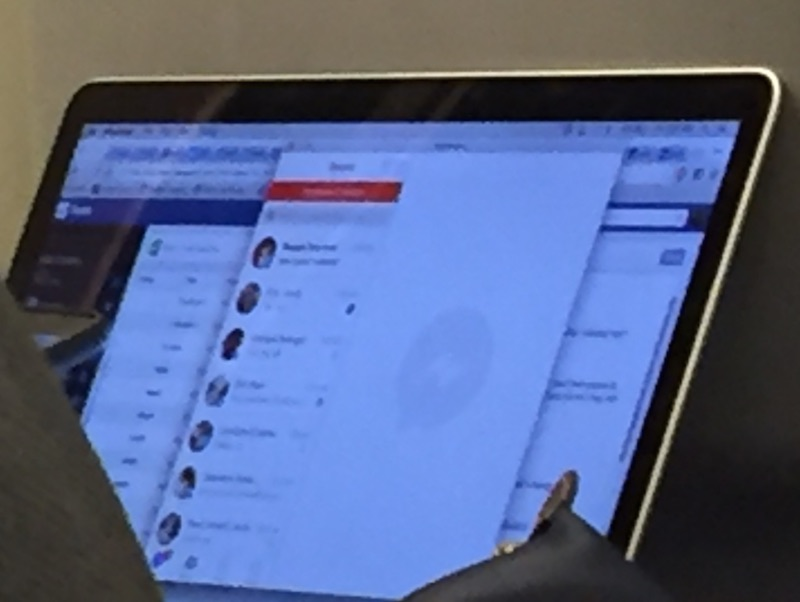 Facebook Messenger for Mac lit up in the photo