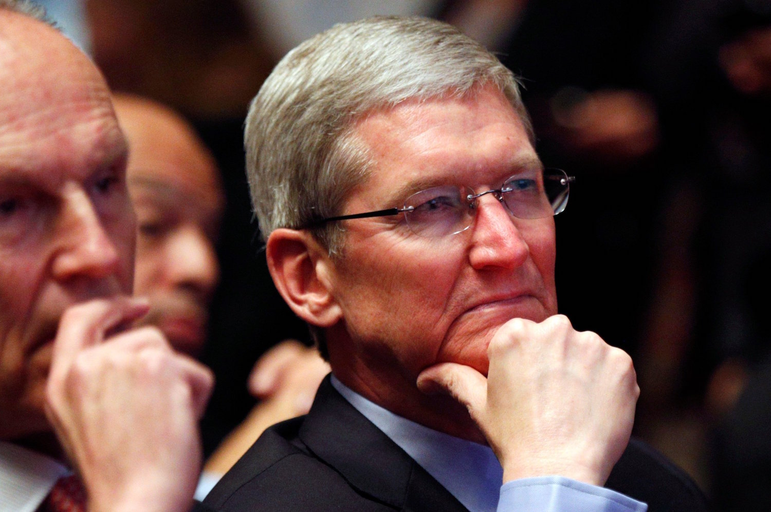 Tim cook attended a secret meeting of conspirators