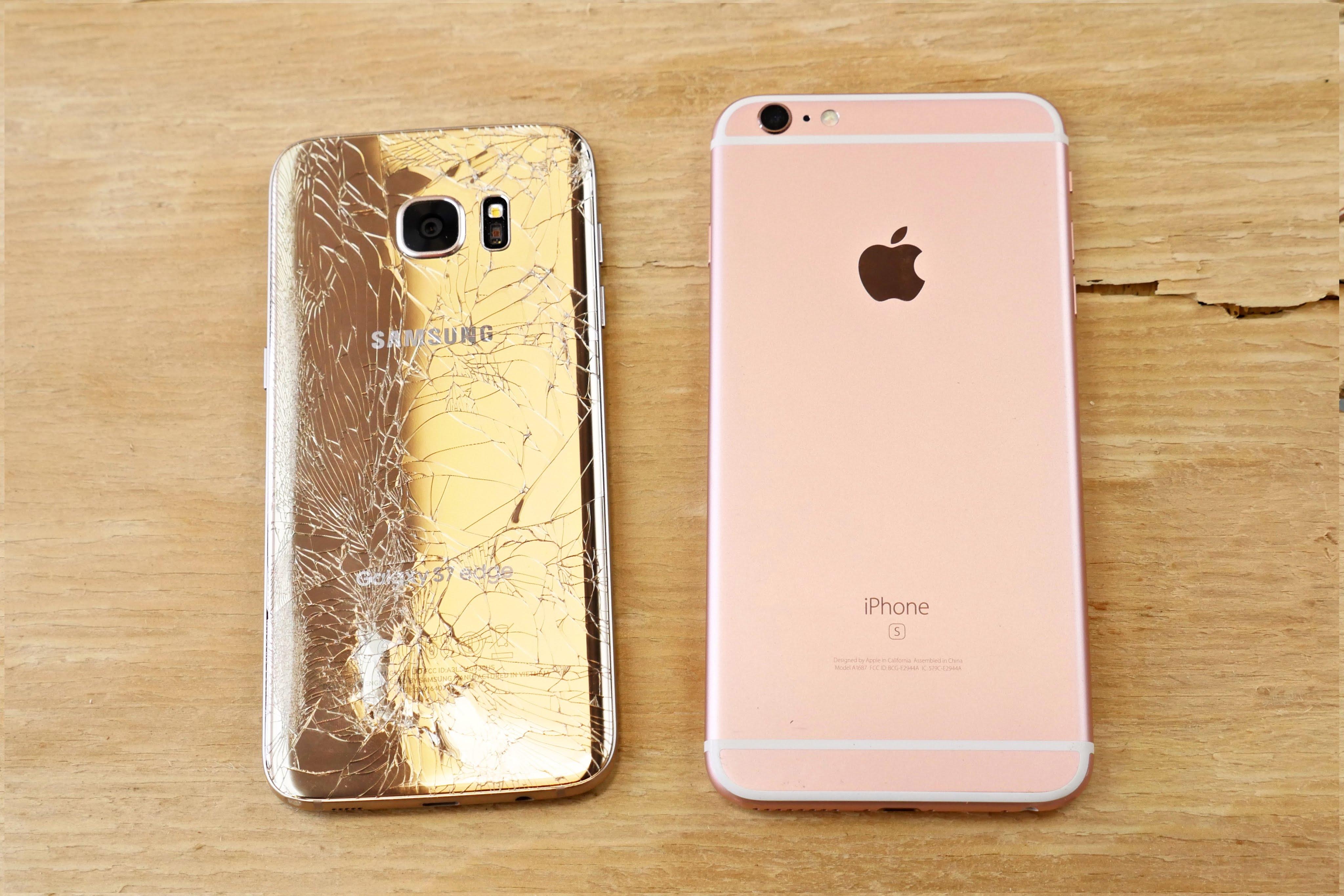 Drop test: iPhone 6s Plus vs Samsung Galaxy S7 edge