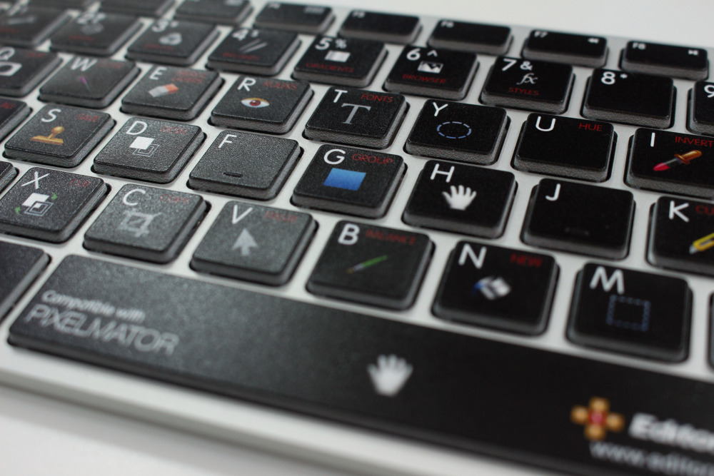 [PHOTO] a Unique keyboard for users of Pixelmator