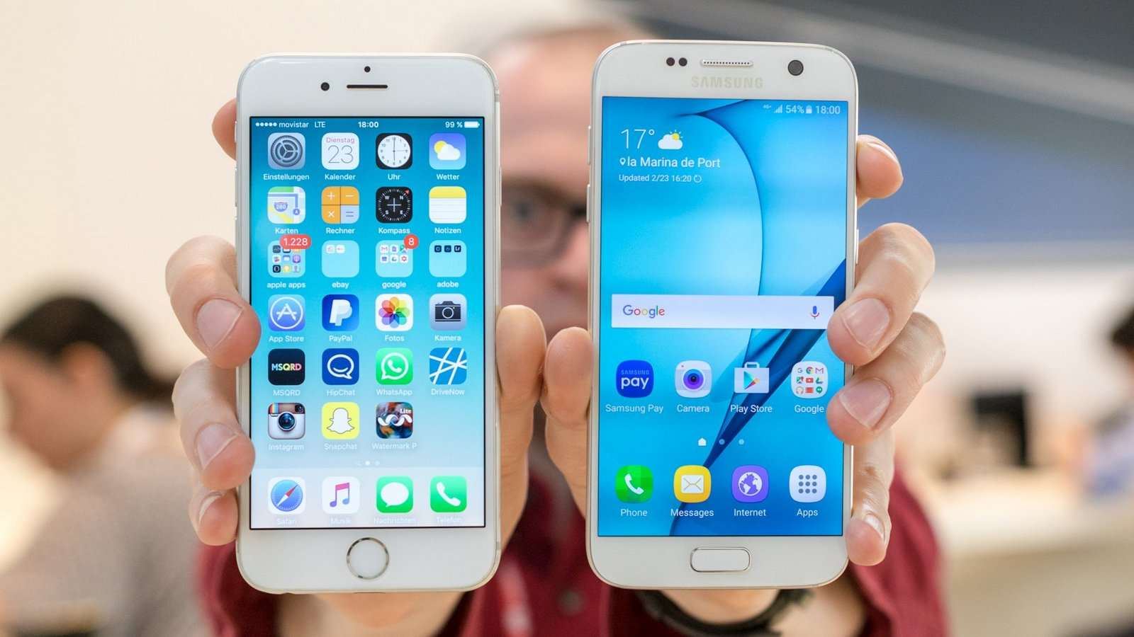 the iPhone 6 has surpassed the games Galaxy S7 and HTC 10
