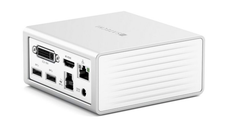 Dock station Satechi Aluminum Mini Docking Station solve the problem of shortage of connectors in MacBook