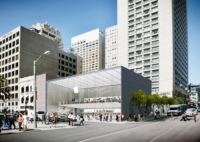 Each glass step is a new Apple Store in Union square to cost Apple $33 333