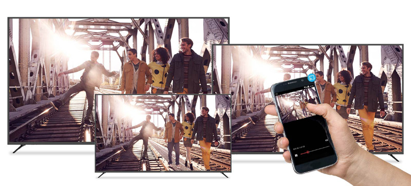 "Polaroid introduced a line of ""smart"" 4K TVs with support for iOS devices"