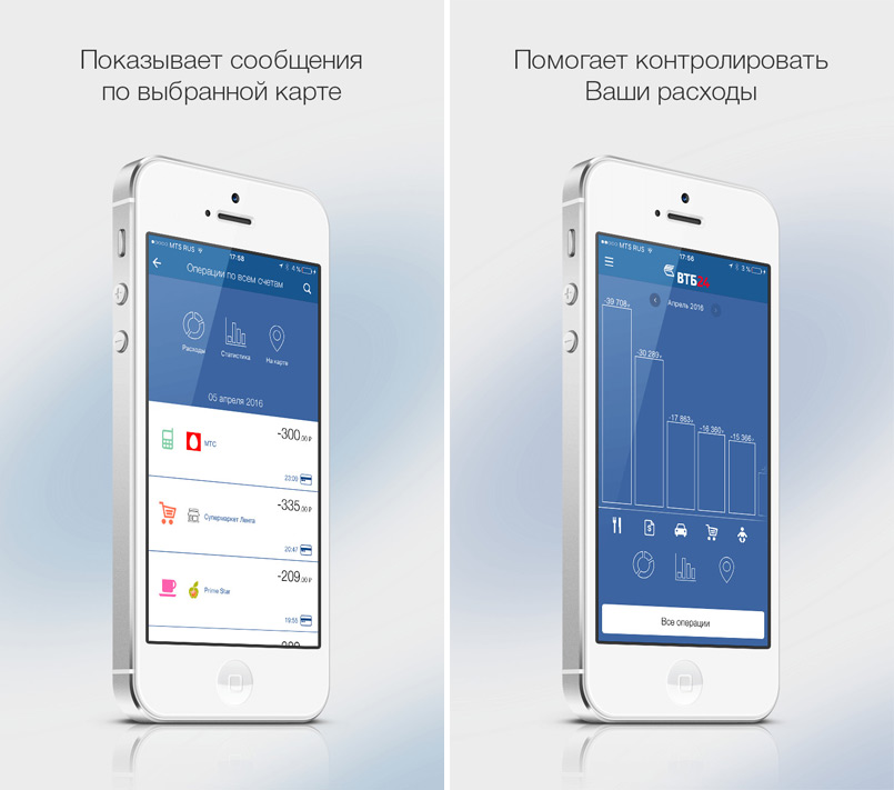 VTB24 has launched a mobile application that allows you to control costs