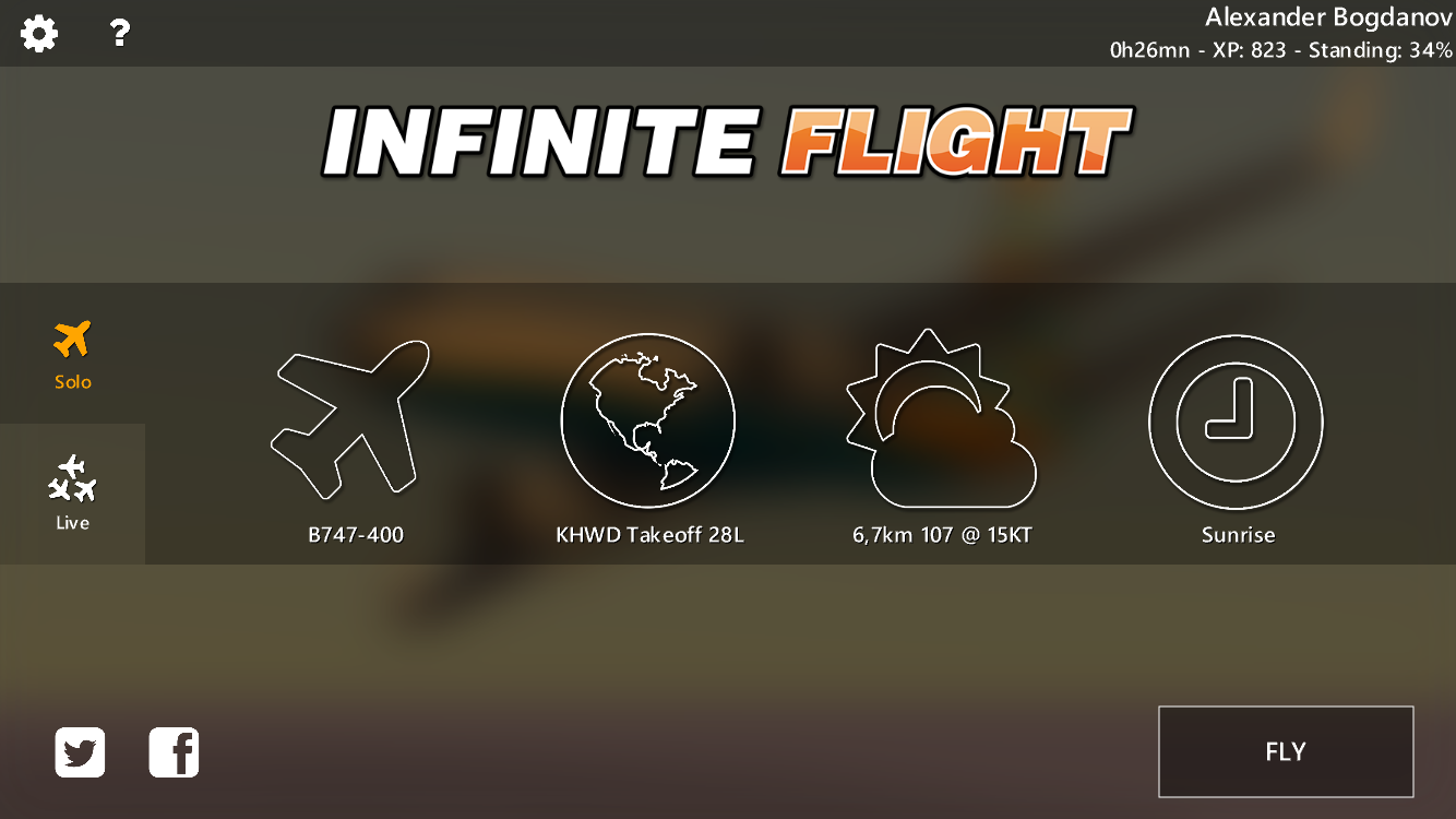 Infinite Flight: First of all — planes!