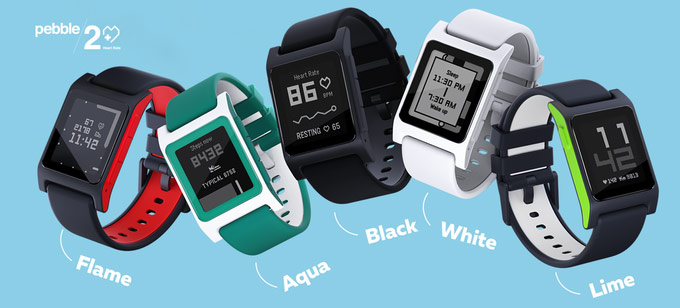 Smart watch Pebble 2, Pebble 2 and the Core device officially presented