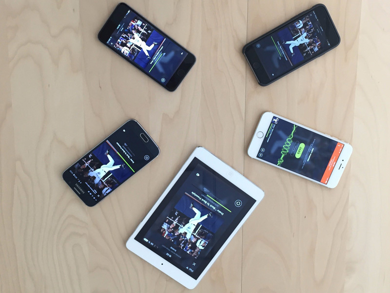 How to create a sound system of several iPhone and Android devices