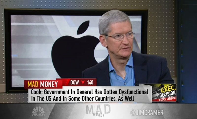 Tim cook: the US government does not cope with their responsibilities