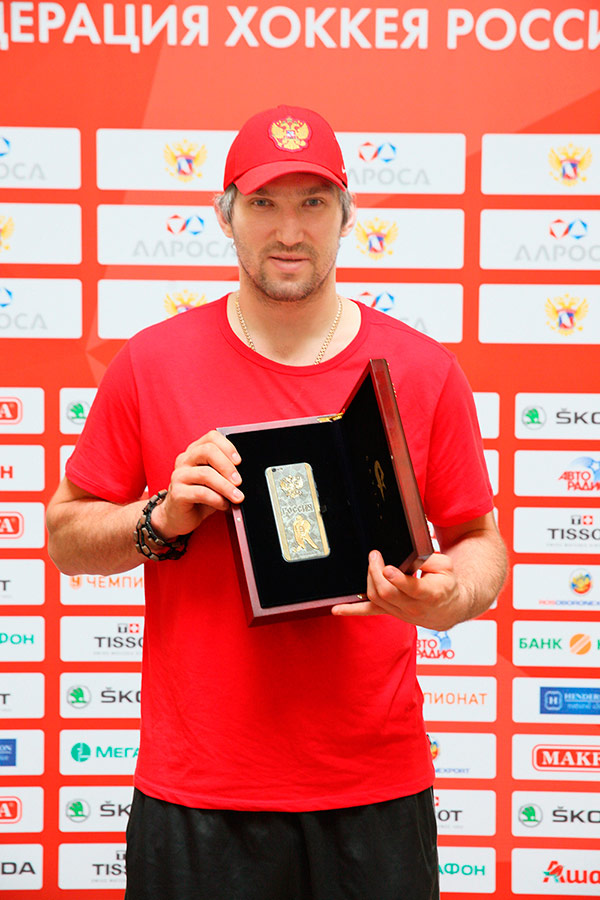 Gold iPhone 6s will help Ovechkin at the world championship-2016 on hockey