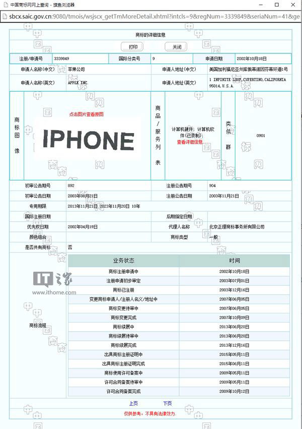 "Apple lost exclusive rights to the brand ""iPhone"" in China"