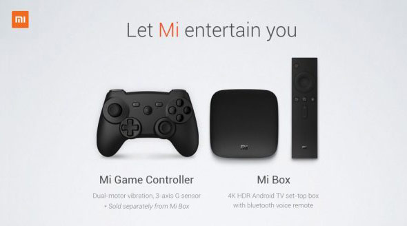 Xiaomi introduced the Mi Box set-top box with Android TV, 4K support and a gamepad