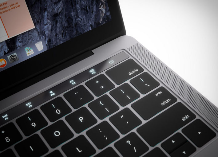The fingerprint scanner Touch ID will be built into the power button MacBook Pro