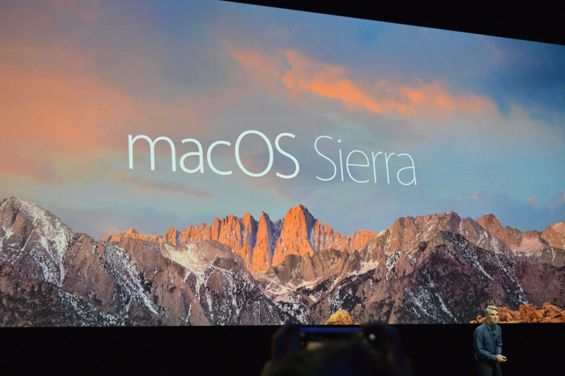 Apple introduced a new desktop platform macOS Sierra