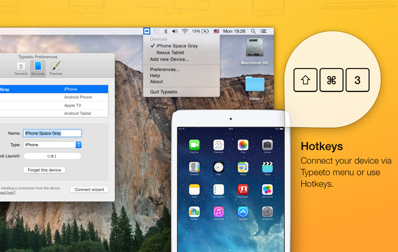 Typeeto turns your Mac into a Bluetooth keyboard for iPhone, iPad and Apple TV [+5 promo]