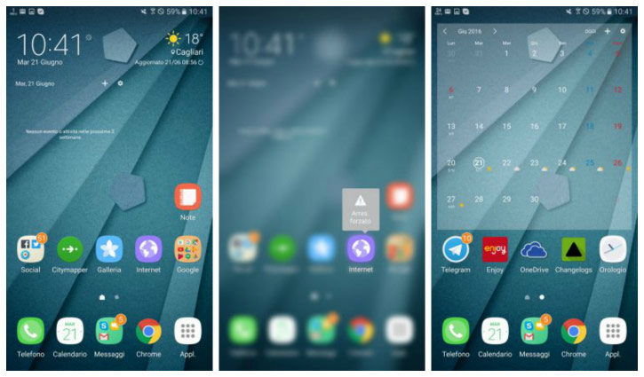 The new TouchWiz interface for Samsung Galaxy Note 7 showed in the video