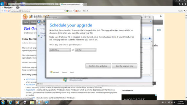 """Microsoft removed the """"close"""" button and other options undo upgrade to Windows 10"""