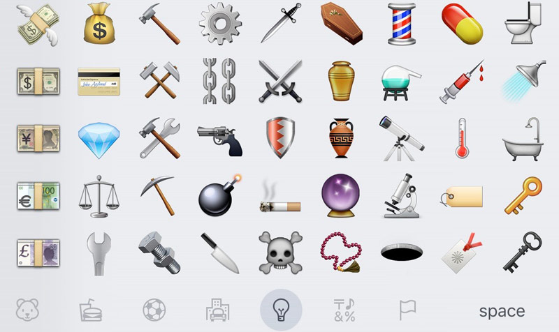 Apple has made exceptions Emoji with a rifle and shot from a standard set for all platforms