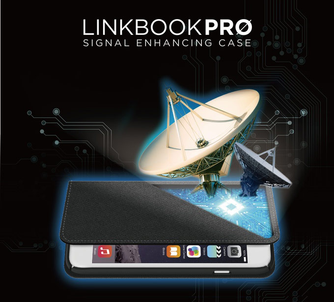 Case Linkbook Pro enhances signal in the iPhone and Android smartphones