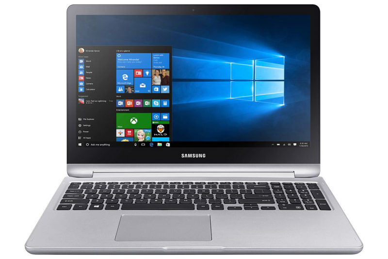 Samsung has introduced a laptop 2 in 1 Notebook 7 Spin with 16 GB RAM and 1TB HDD