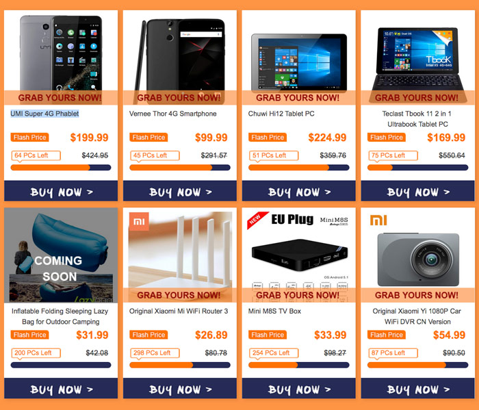 GearBest holds a major sale of equipment