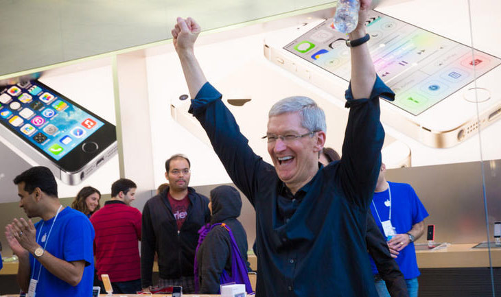 The rating of trust among Tim cook to Apple employees grows