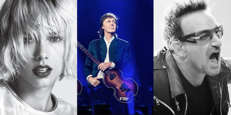 Paul McCartney, Taylor swift and U2 dissatisfied with the low payouts on YouTube