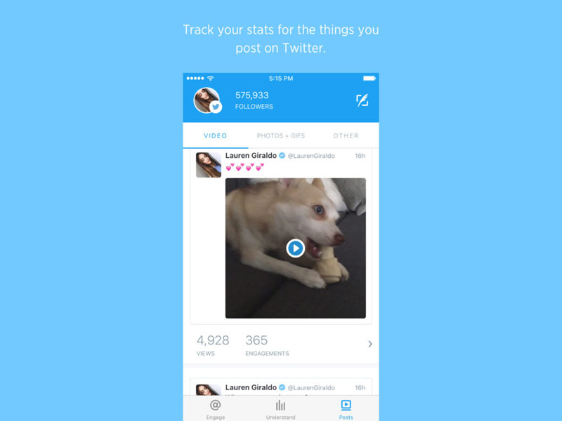 Twitter released a new app for videos Engage