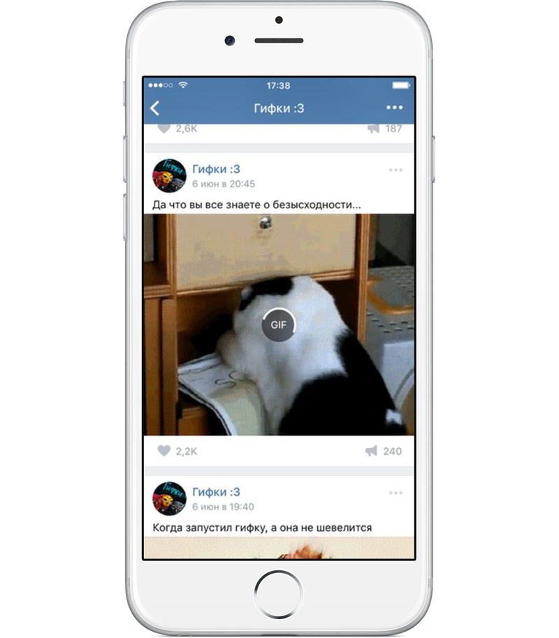 """New update """"Vkontakte"""" for iOS and Android: a new algorithm for news feeds, GIF animations, tips stickers"""