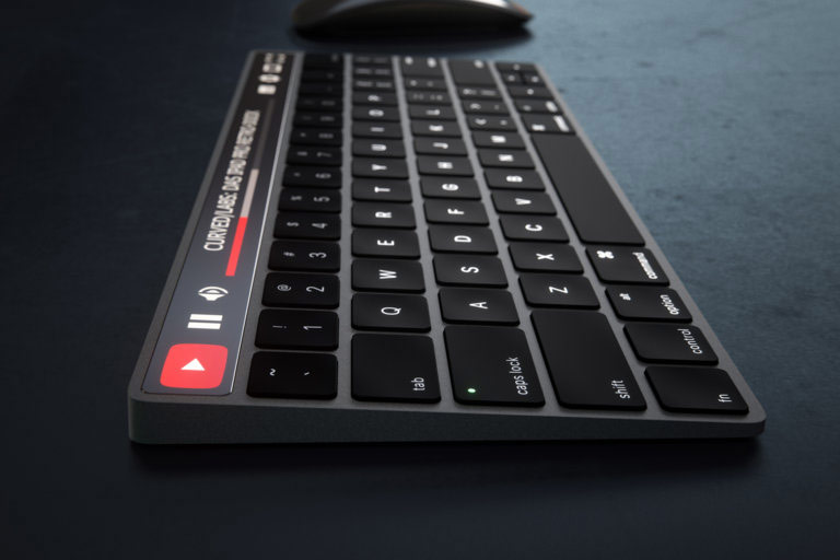 Designers showed a concept keyboard Apple Magic Keyboard with OLED panel instead of buttons