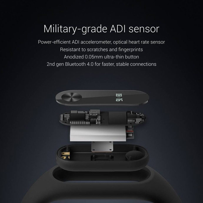 Smart bracelet Xiaomi Mi Band 2 officially presents: OLED display, 20 days of battery life, price $20