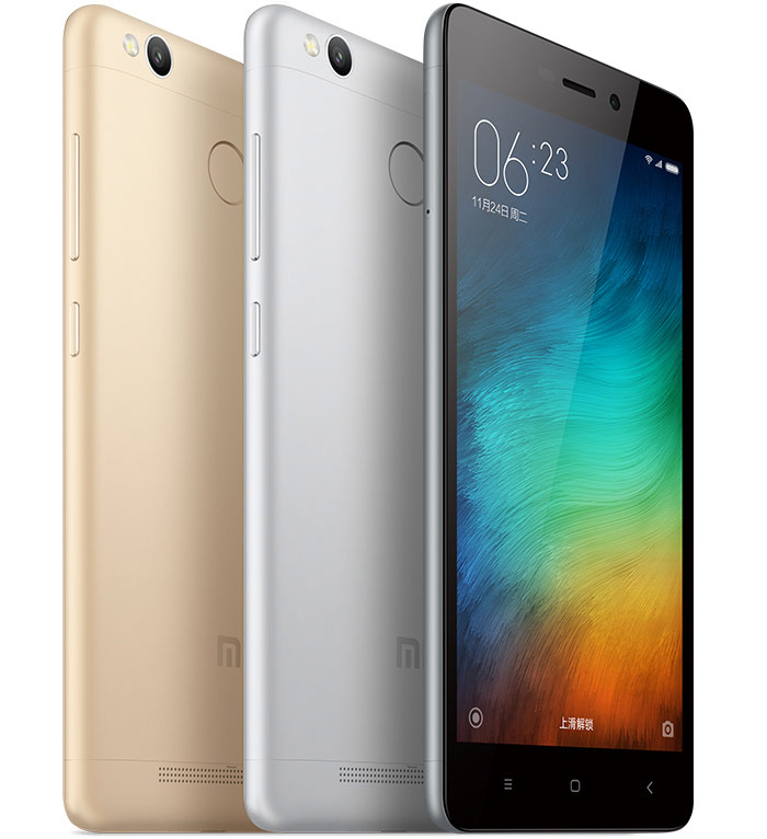 Xiaomi introduced a 5-inch smartphone Redmi 3S with battery 4100 mAh for $105