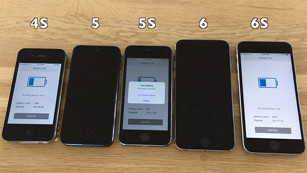 iOS vs iOS 9.3.1 9.3.2: comparison of battery life on iPhone 6s, 6, 5s and 4s [video]