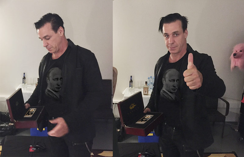 Gold iPhone 6s for Rammstein: Caviar confessed to the fake picture Lindemann