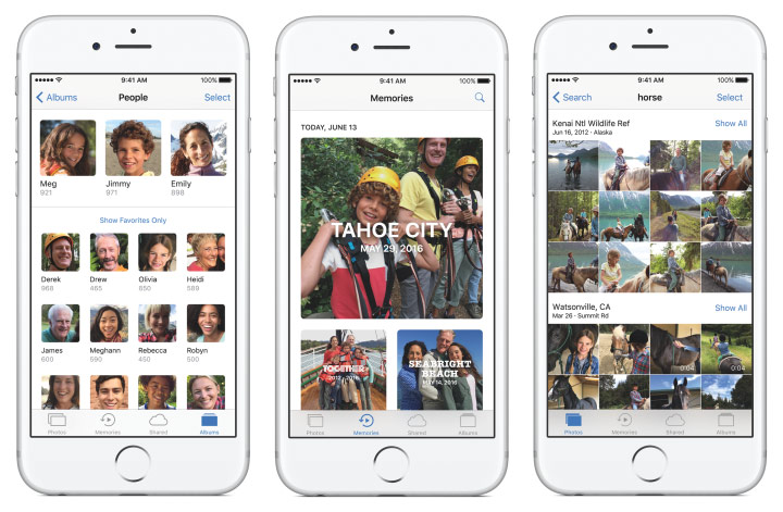 Photo app in iOS and macOS 10 7 Sierra recognizes facial expressions and 4432 of the object