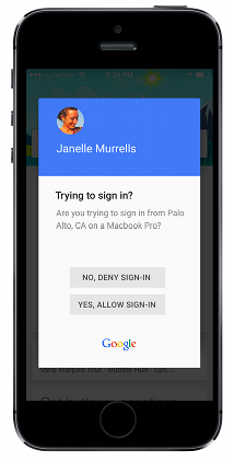 Google has introduced a new method of two-step authentication for users of iOS and Android