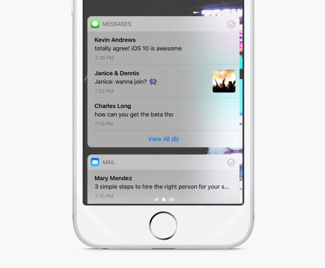 The designer found flaws in the interface of iOS notifications 10 and offered the Apple to redesign
