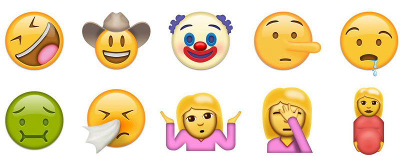 Presented 72 new emojis that will appear on the iPhone and iPad in iOS 10