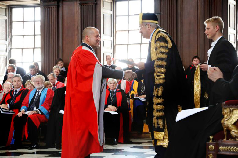 Jonathan Ive received his doctorate at the prestigious University of the UK