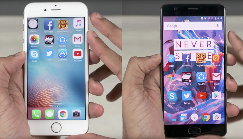 A comparison of the performance of the OnePlus 3 and iPhone 6s: 6 GB of RAM is not needed? [video]