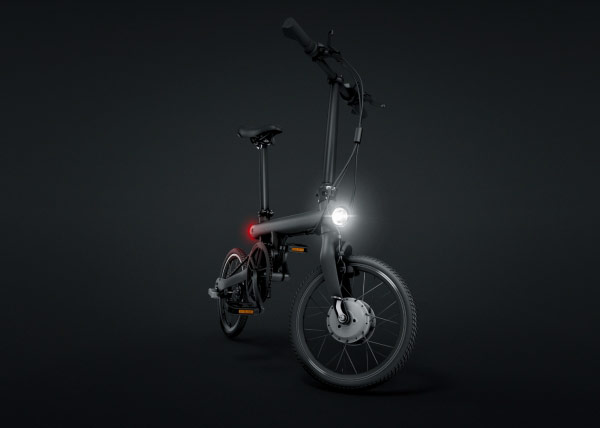 """Xiaomi introduced the """"smart"""" bike QiCycle: electric motor, sync with a smartphone, a price tag of $455"""