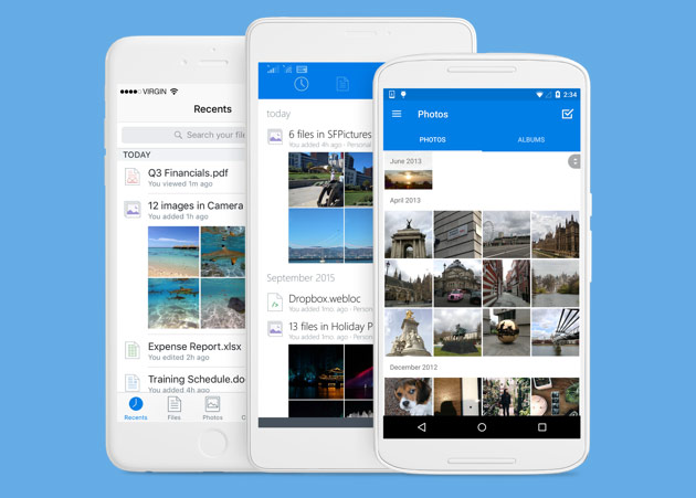 Dropbox limits automatically upload photos from your smartphone for free accounts