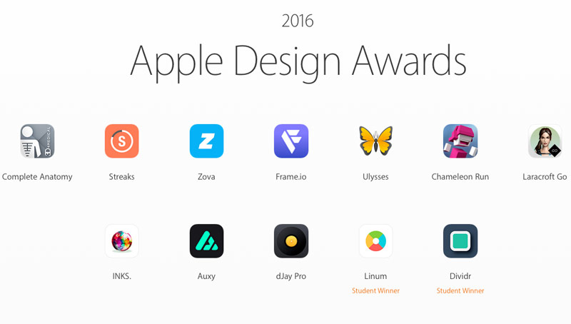 The best of the best 2016: top applications for iPhone, iPad and Mac by Apple