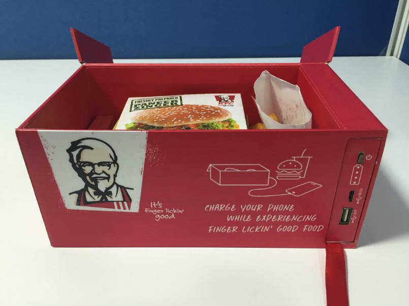 New lunch-boxes KFC can charge your iPhone [video]